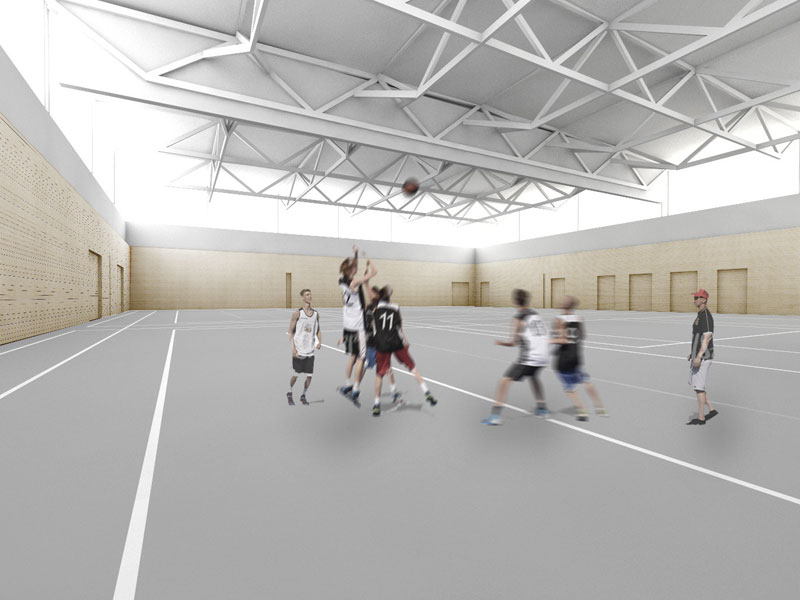 Paul Winter Realschule - Rendering Turnhalle