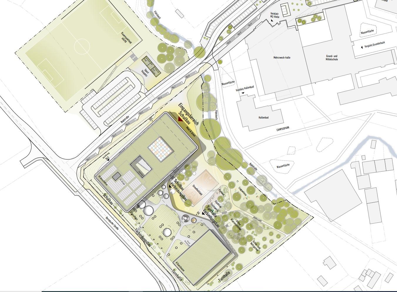 Lageplan der Realschule Kemnath