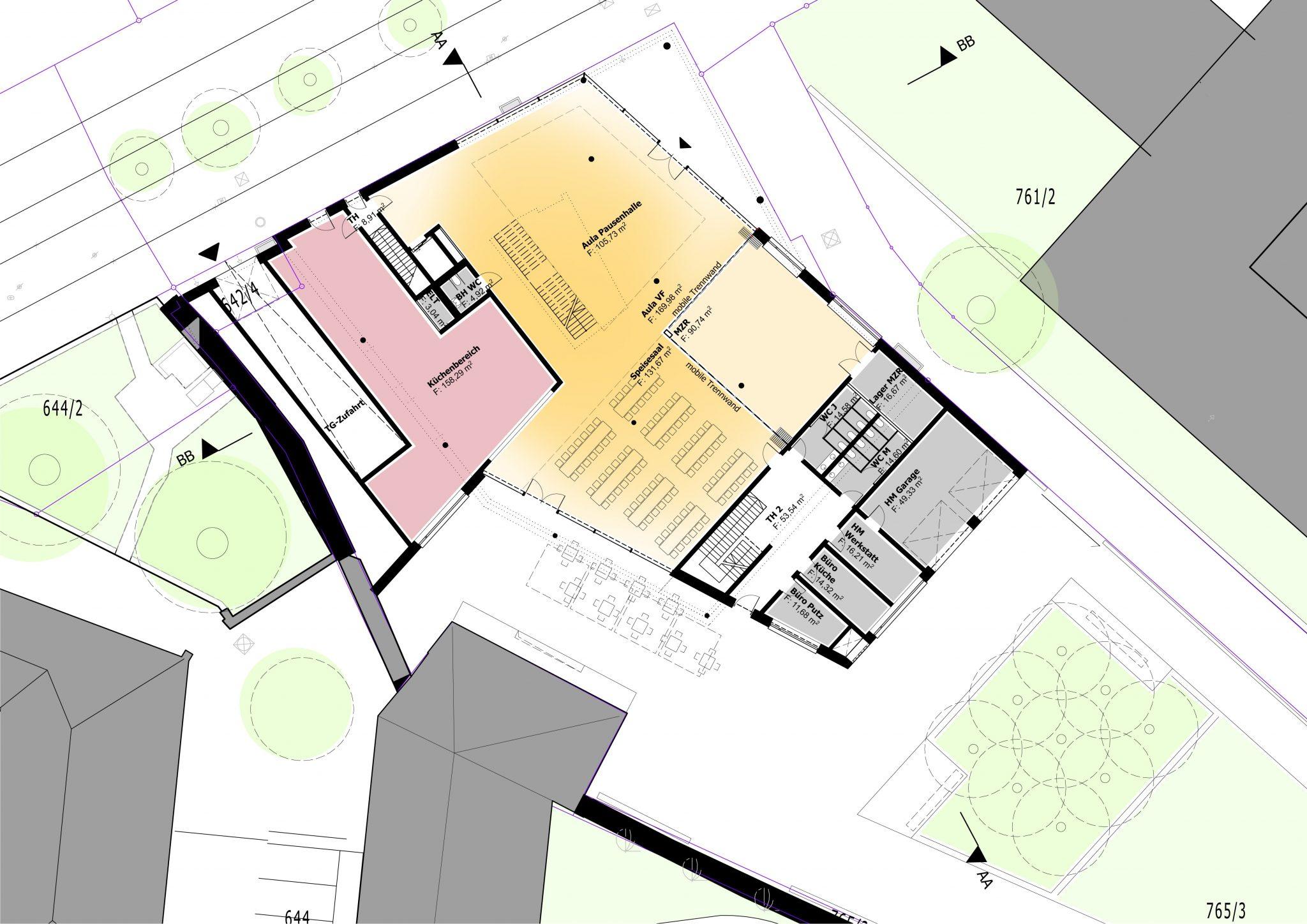 Ursulinen Grundschule: Plan des Eingangsbereichs
