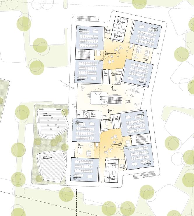 Architekturwettbewerb Neubau einer zweizügigen Grundschule auf Spinelli in Mannheim